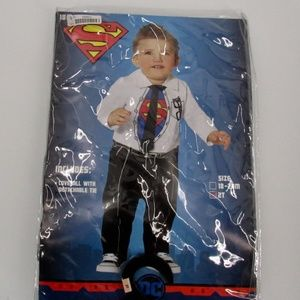 Superman Coverall w/ Detachable Tie Costume Boys 2T